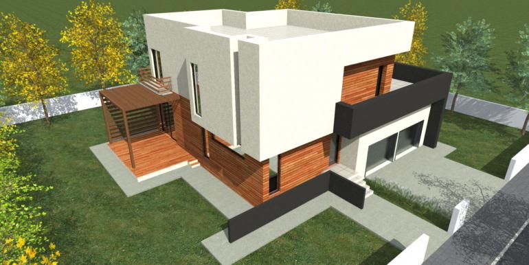 Проект двухэтажного дома с гаражом для двух машин