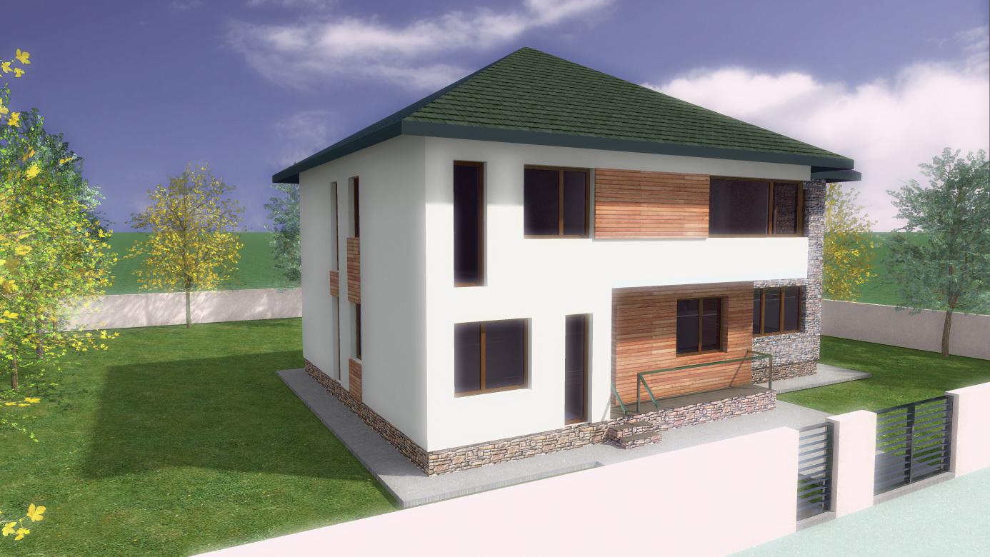 Proiect de casa cu doua etaje si garaj 44