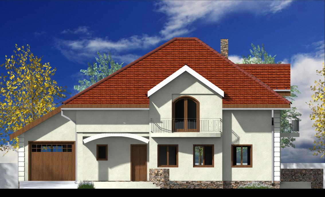 Proiect de casa cu mansarda 47