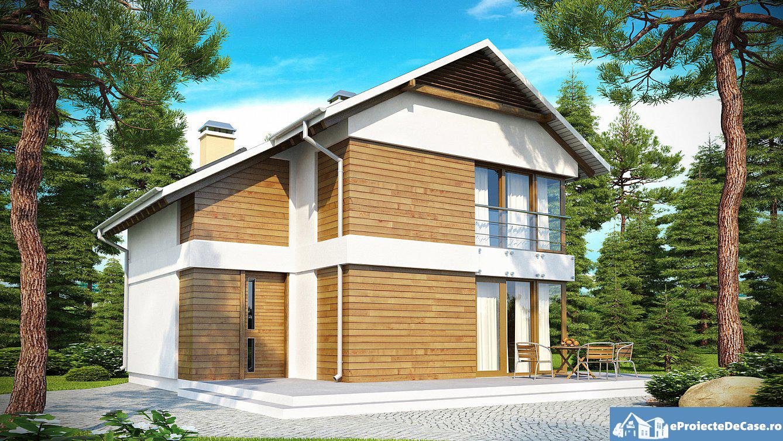 Proiect de casa cu doua etaje 178