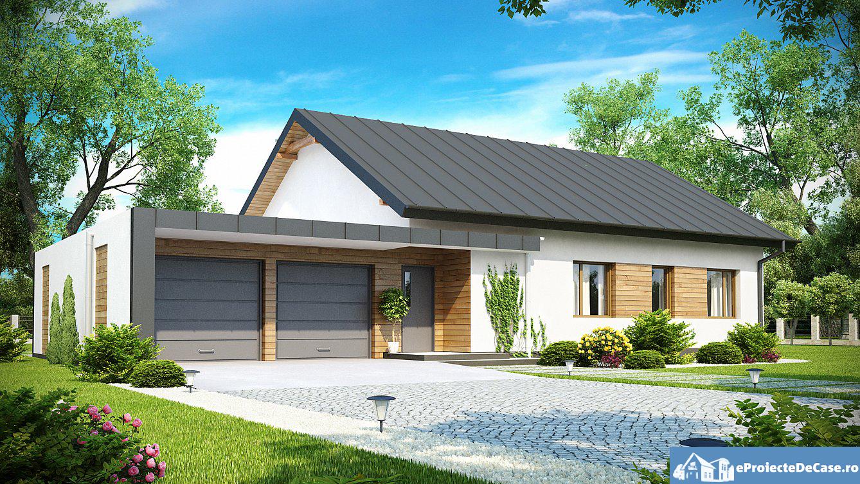 Proiect de casa cu parter si garaj 298