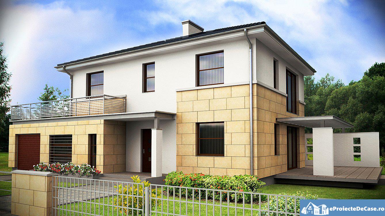 Proiect de casa cu etaj si garaj43