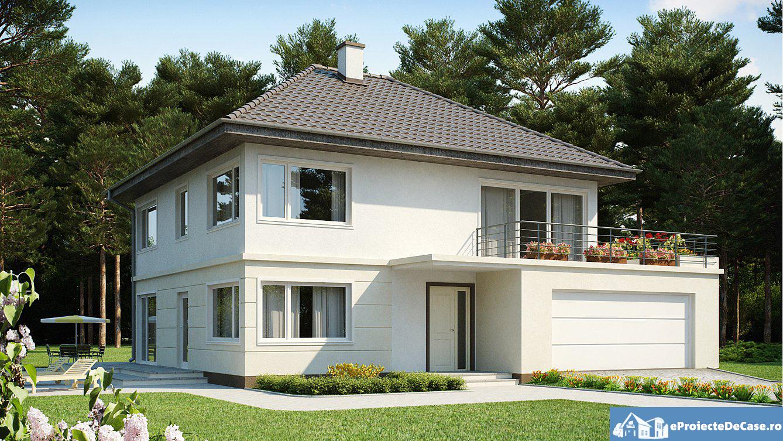 Proiect de casa doua etaje 33 proiectari si constructii for Case cu etaj si garaj