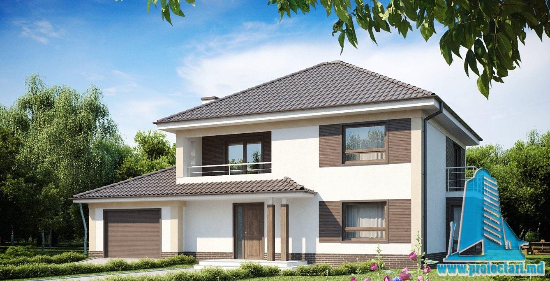 Proiect de casa cu doua etaje 31 proiectari si constructii for Youtube case cu mansarda