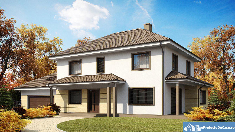 Proiect de casa cu etaj 29 proiectari si constructii for Proiecte case cu etaj si terasa