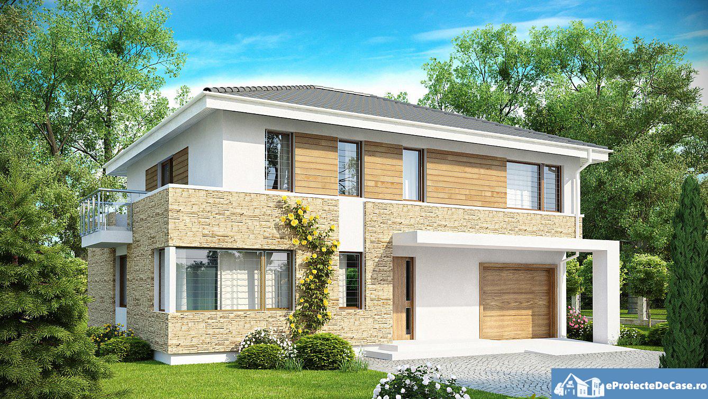 Proiect de casa cu etajsi garaj 26
