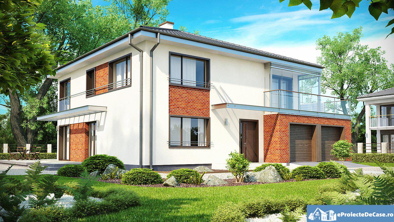 Proiect de casa cu etaj si garaj 25