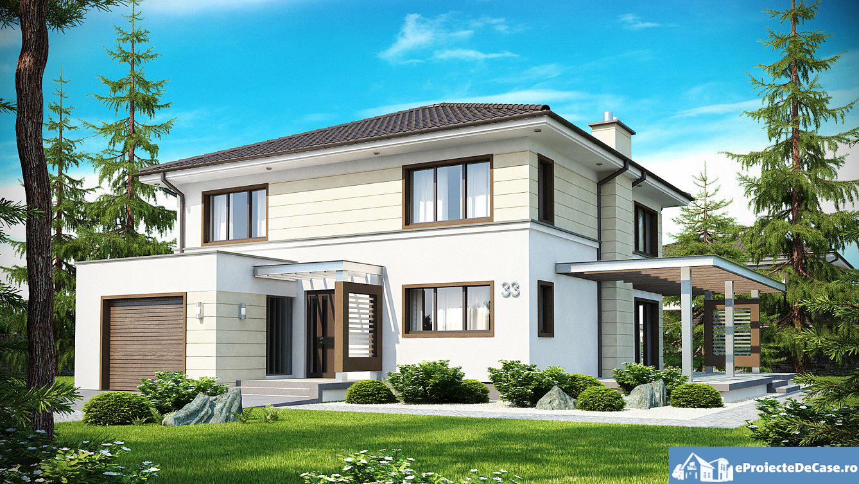 Proiect de casa cu etaj 24 proiectari si constructii for Case cu etaj si garaj