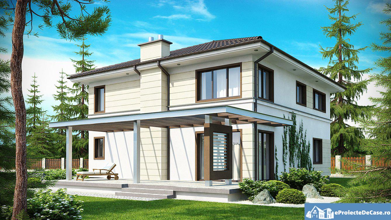 Proiect de casa cu etaj 24