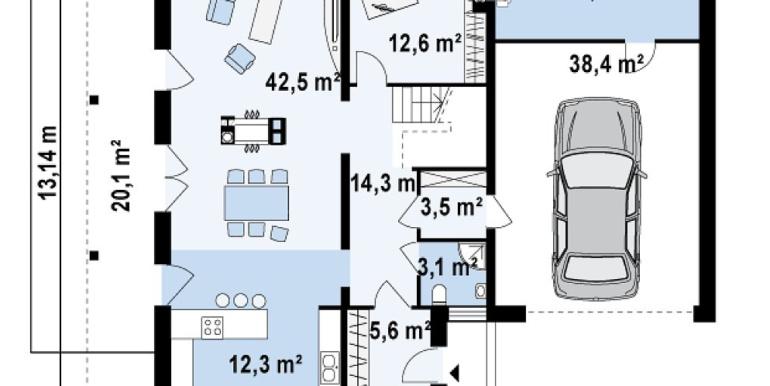 Proiect-casa-cu-Etaj-si-Garaj-e5011-parter