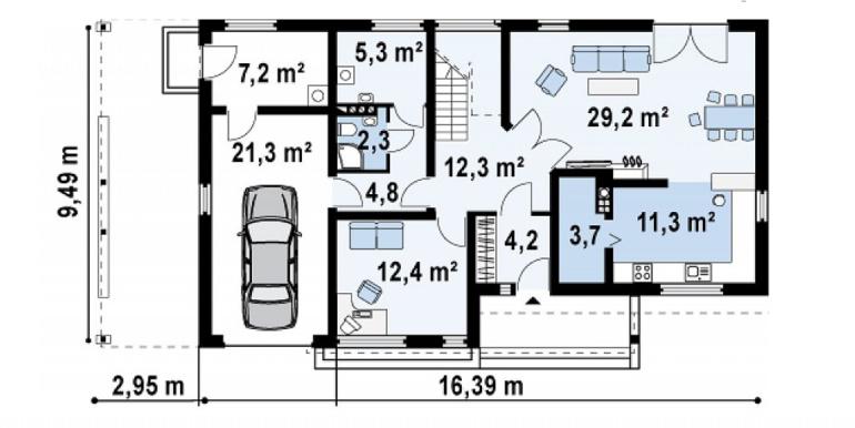 Proiect-casa-cu-Etaj-si-Garaj-e6011