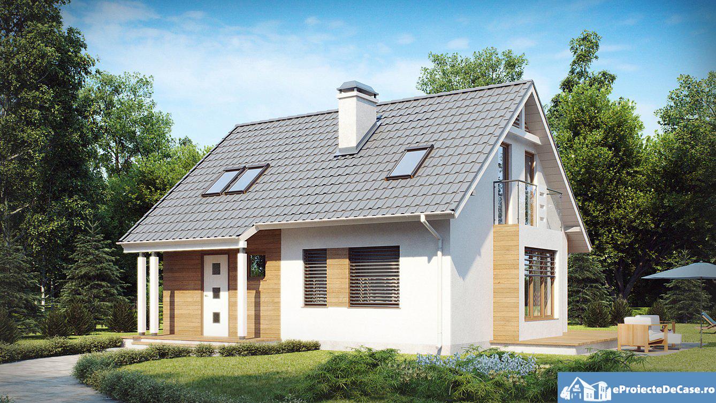 Proiect de casa cu mansarda 230