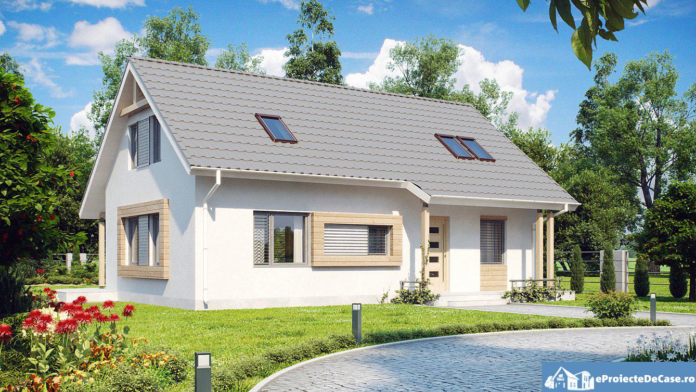 Proiect de casa cu mansarda 199