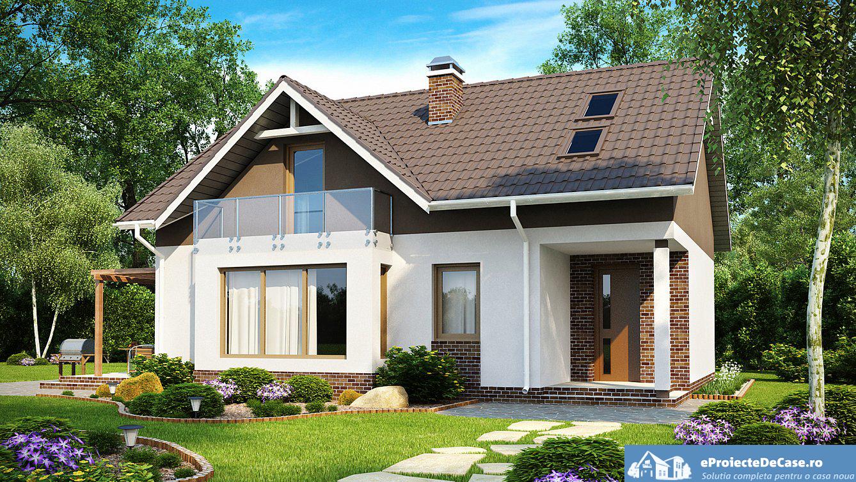 Proiect de casa cu mansarda 187