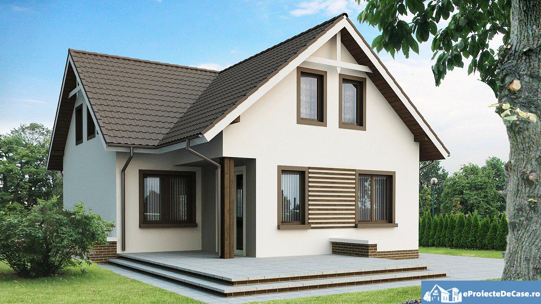 Proiect de casa cu mansarda 227