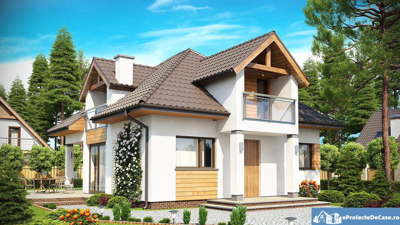 Proiect de casa cu mansarda 183