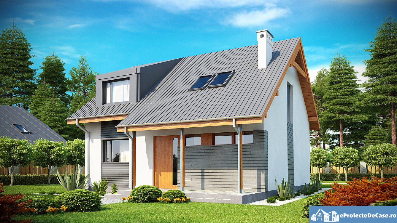 Proiect de casa cu mansarda 228