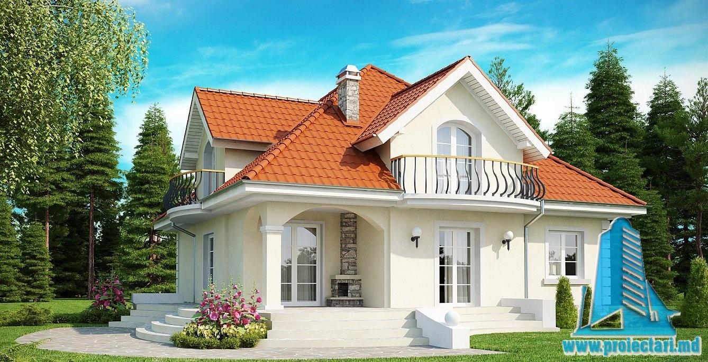Proiect de casa cu mansarda 45
