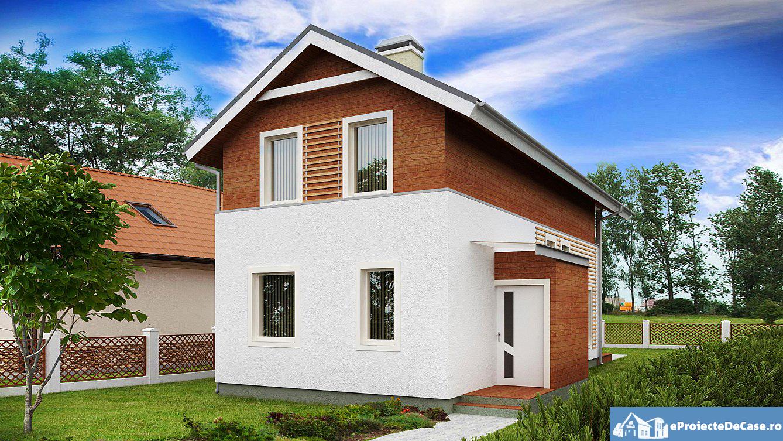 Proiect de casa cu mansarda 225