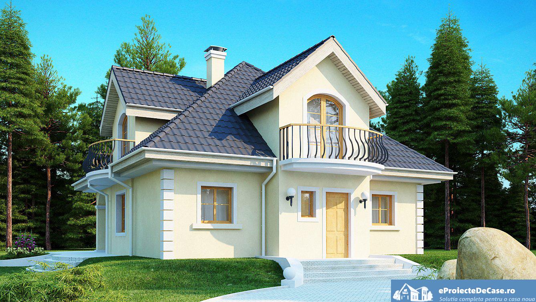 Proiect de casa cu mansarda 224