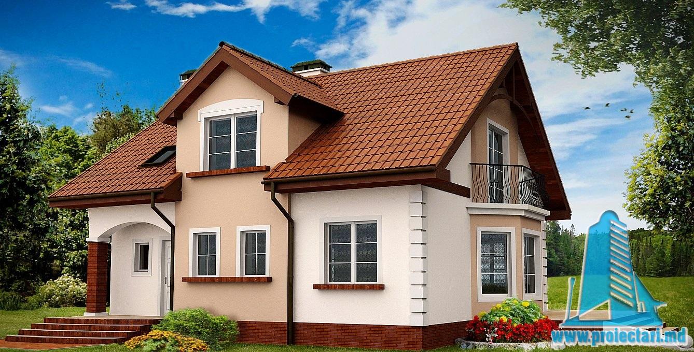 Proiect de casa cu mansarda 240