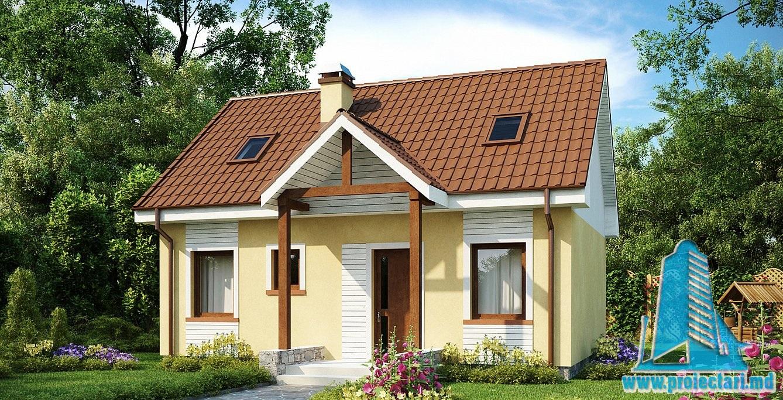 Proiect de casa mansarda237