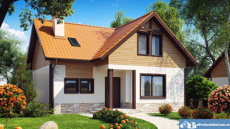 Proiect de casa cu mansarda 221