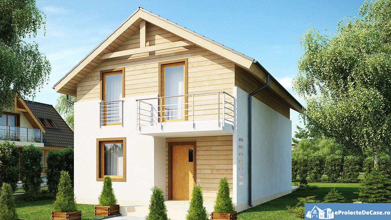 Proiect de casa cu mansarda 220