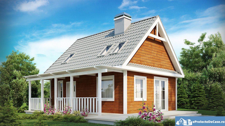 Proiect de casa cu mansarda  234