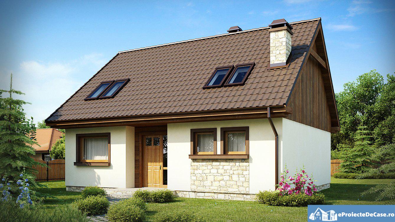 Proiect de casa cu mansarda 219