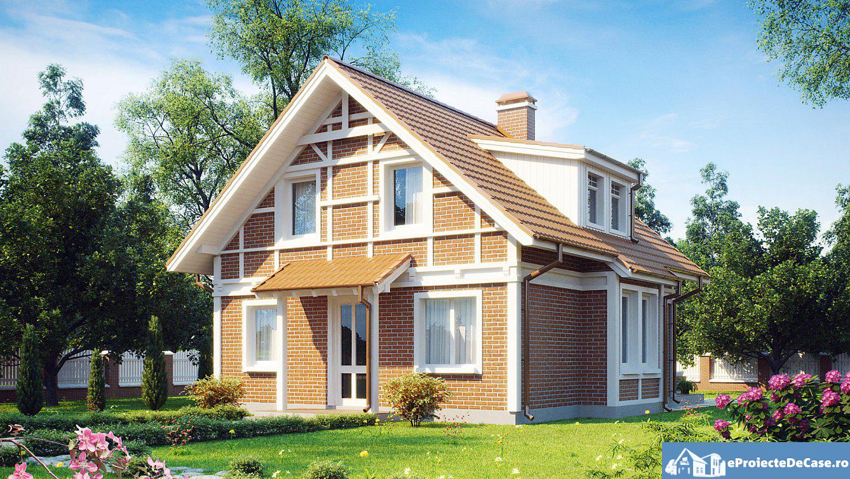 Proiect de casa cu mansarda 217