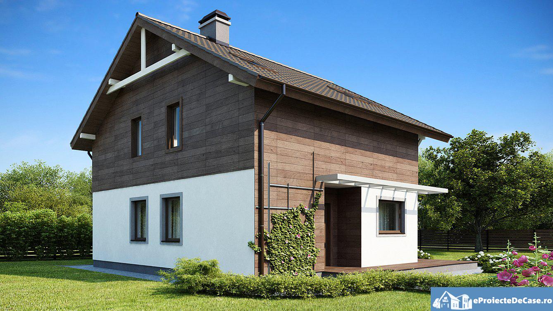 Proiect de casa cu mansarda 215