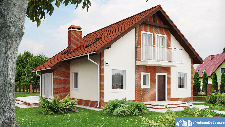 Proiect de casa cu mansarda 160