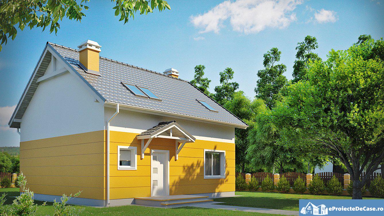 Proiect de casa cu mansarda 212