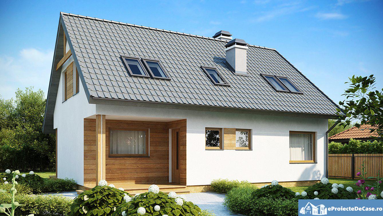 Proiect de casa cu mansarda 211