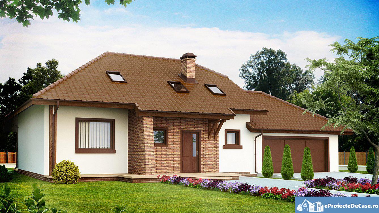 Proiect  de casa cu mansarda 10