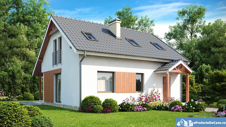 Proiect de casa cu mansarda 231