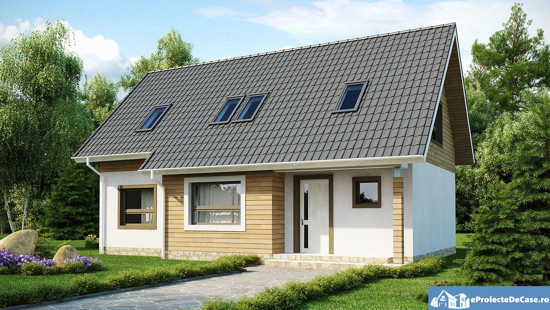 Proiect de casa cu mansarda  208