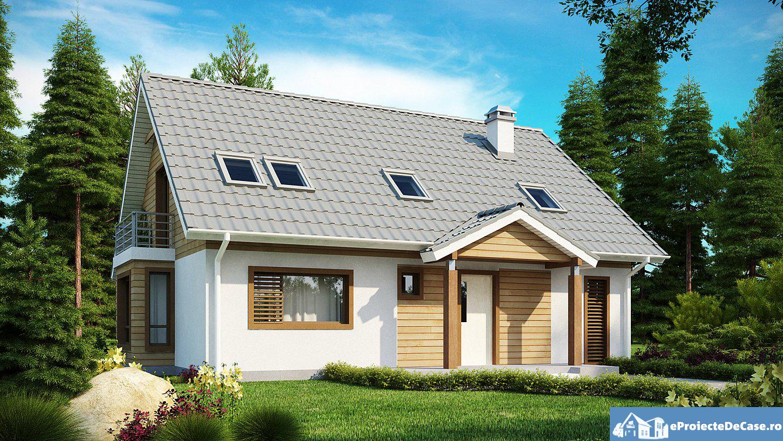 Proiect de casa cu mansarda 159