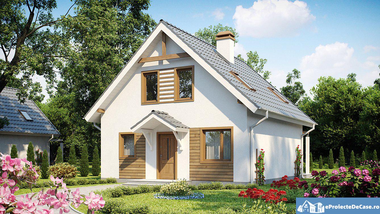 Proiect de casa cu mansarda 204