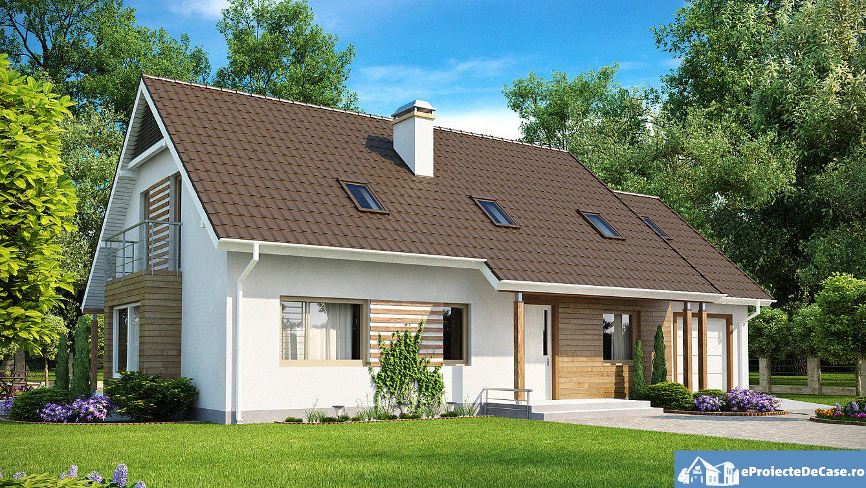 Proiect de casa cu mansarda 132