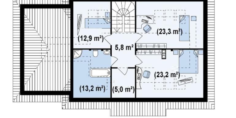 Proiect-casa-cu-Mansarda-si-Garaj-105011-mansarda1