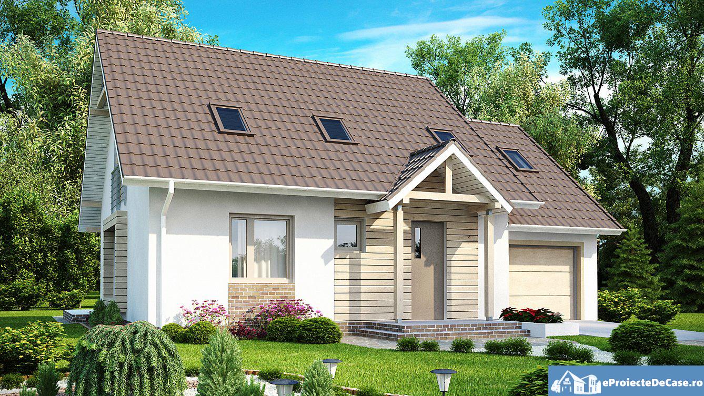 Proiect de casa cu mansarda 201