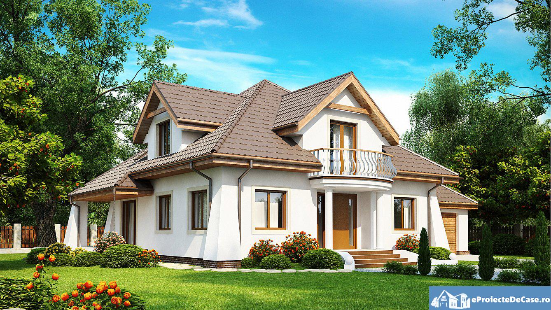 Proiect de casa cu mansarda 131