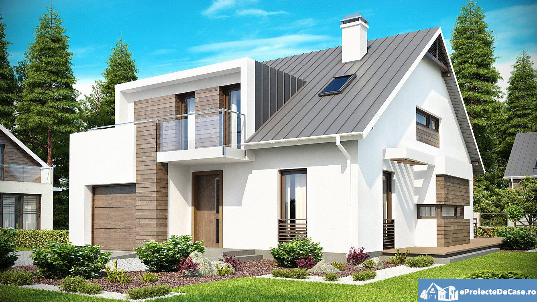 Proiect de casa cu mansarda 130