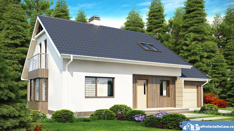 Proiect de casa cu mansarda 156