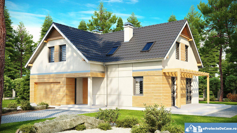 Proiect de casa cu mansarda 155