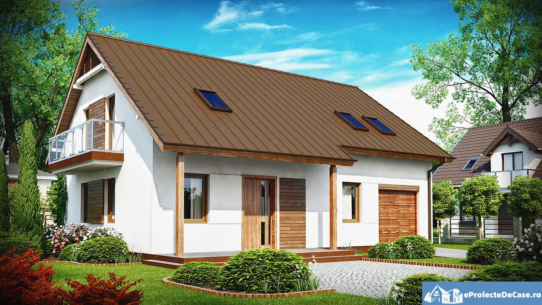 Proiect de casa cu mansarda 185