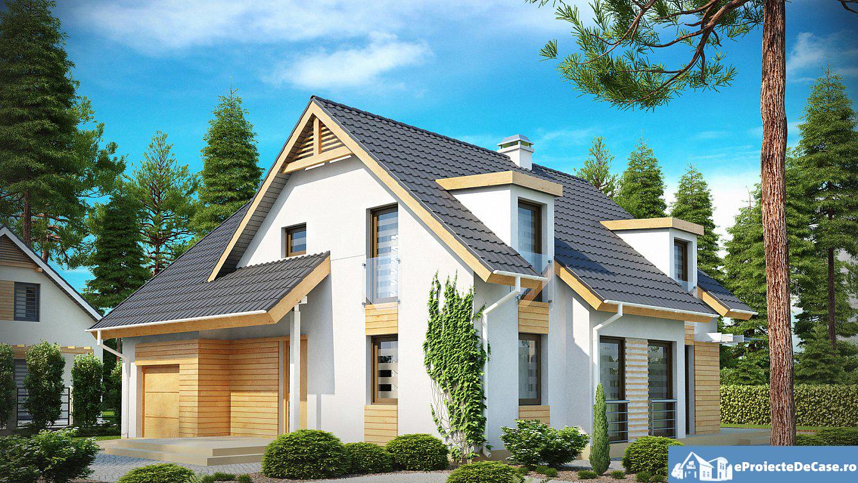 Proiect de casa cu mansarda 153