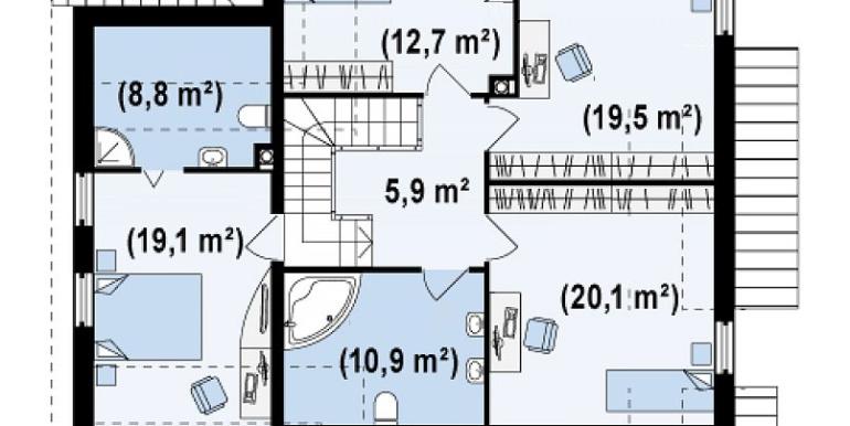 Proiect-casa-cu-Mansarda-si-Garaj-135011-mansarda